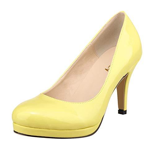 Cabeza Elegante Baja Simple Flyrcx Redonda Solos Oficina Temperamento Señoras H Altos Boca Moda Trabajo Sexy Zapatos Tacones qORwE