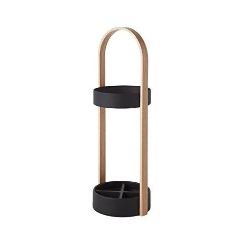 Umbra Hub Umbrella Stand, Black/Natural by Umbra
