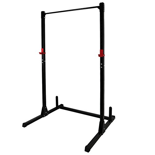 F2C Adjustable Height Power Squat Rack Cage Stand System Strength Deadlift Power Lifting Weightlifting Rack W/Pull up Bar Exercise Stand Squat Rack Bench Curl Weight Stand by F2C (Image #3)