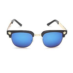 LIKEOY Men Half Frame Horn Rimmed Glasses UV400 Retro Sunglasses A1