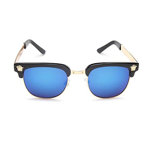 LIKEOY Men Half Frame Horn Rimmed Glasses UV400 Retro Sunglasses - Most Fashionable Glasses 2014