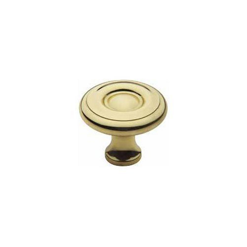 Colonial Lacquered Polished Brass - Baldwin 4660.030.BIN Colonial Style 1-1/2-Inch Diameter Cabinet Knob, Polished Brass - Lacquered by Baldwin