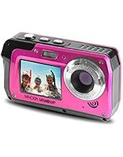 Minolta 48 MP Dual Screen Waterproof Digital Camera MN40WP, Pink