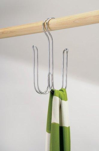 ... percha doble para colgar accesorios, cinturones, corbatas y más - Organizador de ropa y accesorios para colgar en el placard - Cromado: Amazon.es: Hogar