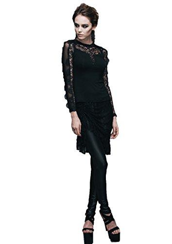 Noir Devil small Col Rond Femme Fashion shirt X T 1q81T
