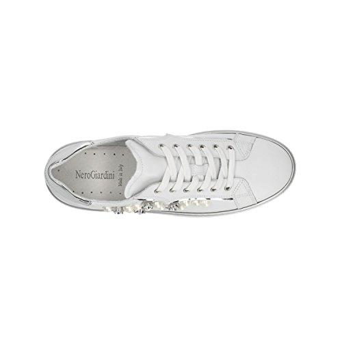 Giardini Nero P805270D de Exterior Deportes Blanco Mujer Para Zapatillas Bianco Para d665wqr