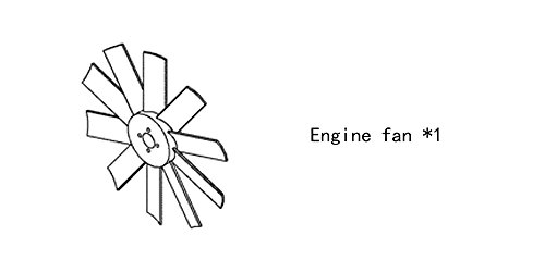 Engine fan 4931797 for diesel engine: