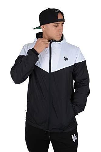 YoungLA Windbreaker Jacket for Men Waterproof Impermeable Raincoat Fashion Winter Coat 514 Black Large