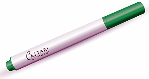 Chalk Pen : Green Liquid Chalk Marker with 2mm Chalk Paint Fine Tip for Writing and Drawing - Erasable Chalkboard Label Paint Pen by Cestari Kitchen