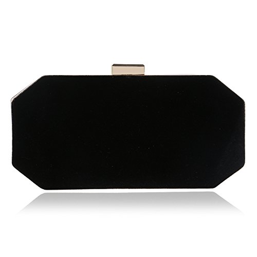 Black Lingjiao Evening Suede Banquet Evening Clutch Women's GROSSARTIG Bag vzx7OZO