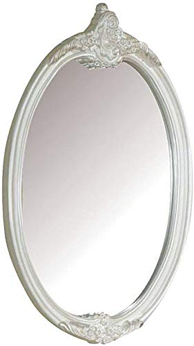 ACME 01014 Pearl Oval Mirror,Pearl White Finish