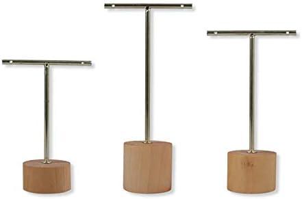 Bigpea Metall Holz Ohrringe Halter T Form Baumeln Ohrringe Display Stand Rack Schmuck Display Ohrringe Veranstalter Rack Showcase Gold
