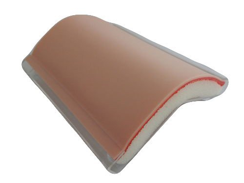 Skin Pad with Holder - 3 Layer FLESH SKINTONE COLOR with FREE 12 x Needles and FREE 1 x Needle Holder by Suturing Doctor