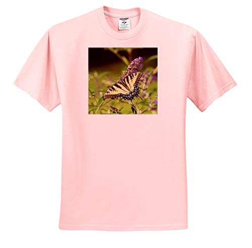 3dRose Danita Delimont - Butterflies - Eastern Tiger Swallowtail on Butterfly Bush, Illinois - Light Pink Infant Lap-Shoulder Tee (12M) (ts_314820_72)