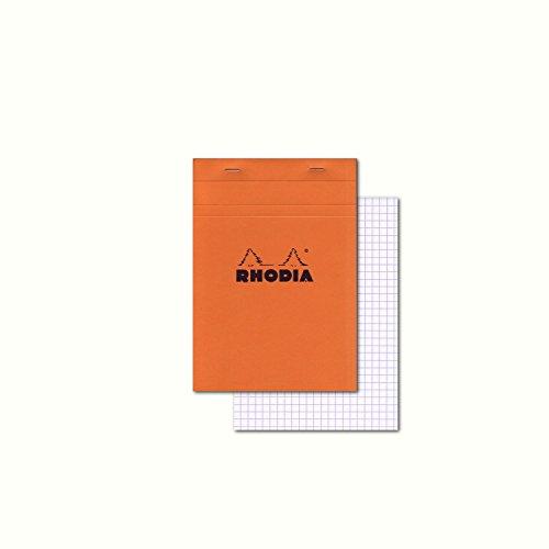 - Rhodia Classic Staple Bound Graph Paper Pad, Orange, 6 x 8 1/4