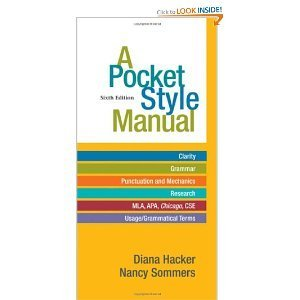 POCKET STYLE MANUAL >CUSTOM< (Diana Hacker A Pocket Style Manual 6th Edition)