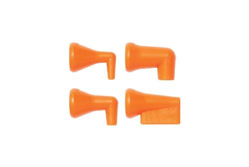 Loc-Line Coolant Hose 90 Degree Nozzle Kit, Acetal Copolymer, 4 Piece, 1/4 Hose ID