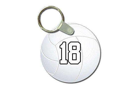 TYD Designs Key Chain Sports Volleyball Customizable 2 Inch