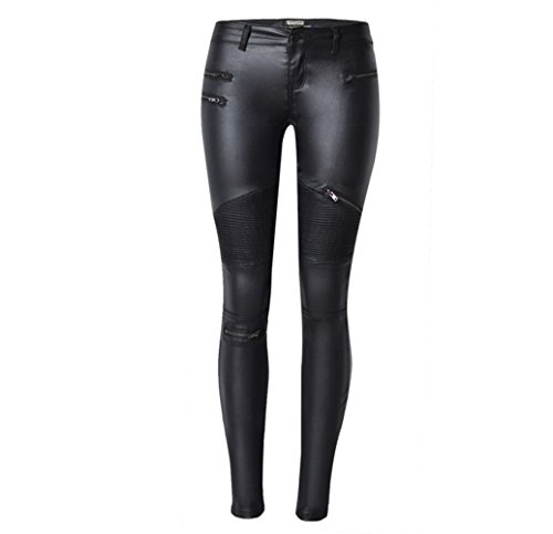 Ladies Leather Motorcycle Trousers - 2