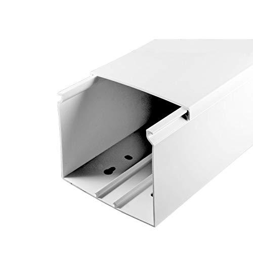 L x B x H 2000 x 80 x 60 mm, PVC, Kabelleiste, Schraubbar SCOS Smartcosat SCOSKK28 2 m Kabelkanal wei/ß