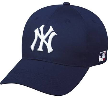 Mlb Replica Cap - New York Yankees ADULT Adjustable Hat MLB Officially Licensed Major League Baseball Replica Ball Cap