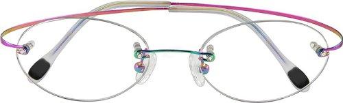 f8fb384fed0 Image Unavailable. Image not available for. Colour  Zenni Optical Eyeglasses  372229 Rimless Hingeless Titanium ...