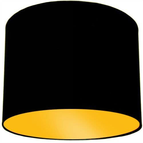 Black ceiling lamp shade with bright yellow lining amazon black ceiling lamp shade with bright yellow lining aloadofball Images