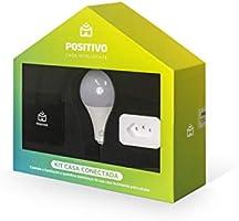 Kit Casa Conectada, Positivo Casa Inteligente (1 Smart Controle Universal + 1 Smart Lâmpada Wi-Fi + 1 Smart Plug Wi-Fi),...