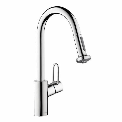 Hansgrohe 04702 Talis Loop Single Handle Pull-Down Spray Kitchen Faucet with Non, Chrome by Hansgrohe