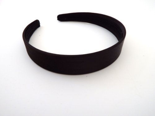 "Plain Satin Covered Alice Band Hair Headband 1.5cm 0.6/"" Wide Hair Accessories"