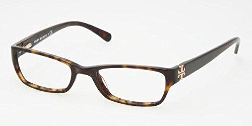 Tory Burch TY 2003 Eyeglasses Styles Dark Tortoise Frame w/Non-Rx 51 mm Diameter Lenses,