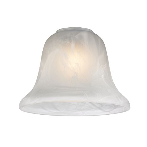 Alabaster Pendant Lamp - Alabaster Glass Bell Shade - 1-5/8-Inch Fitter Opening