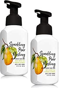 Bath and Body Works 2 Pack Sparkling Pear Riesling Gentle Foaming Hand Soap. 8 Oz
