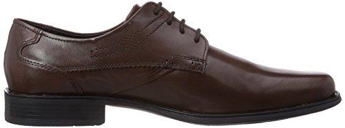 Bugatti R13051W - zapatos con cordones de cuero hombre marrón - Braun (braun 600)