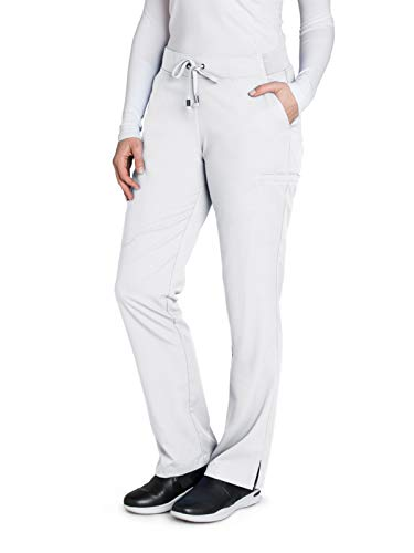 Stretch Low Rise Cord Pants - Grey's Anatomy 4277 Straight Leg Pant White XS