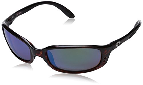 Costa Del Mar Brine Polarized Sunglasses, Tortoise, Green Mirror W580 ()