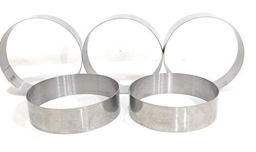 BAKERY HUB Stainless Steel Baking Ring for Burger/Buns Pack of 5 (Steel, 3 Inch Diameter) Price & Reviews