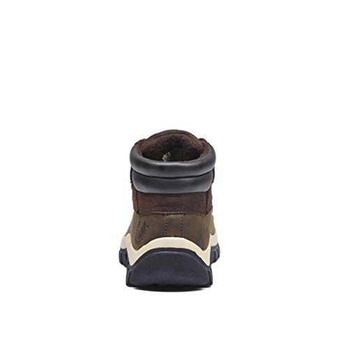 Kingshow - Mens Warm Waterproof Winter Leather High Height Snow Boot Brown 1428 o3wT3aC1