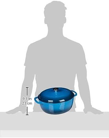 Cacerola de hierro fundido esmaltado con tapa Basics 3,1/L Azul