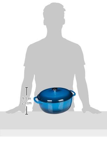 AmazonBasics Dutch Oven - Blue