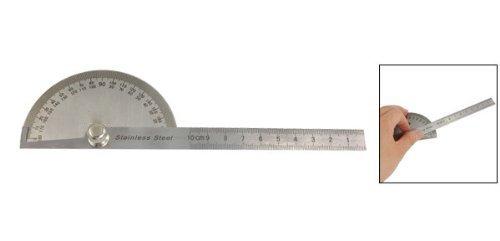 Sonline Rapporteur a mesure de 180 degres en acier inoxydable avec Regle metrique