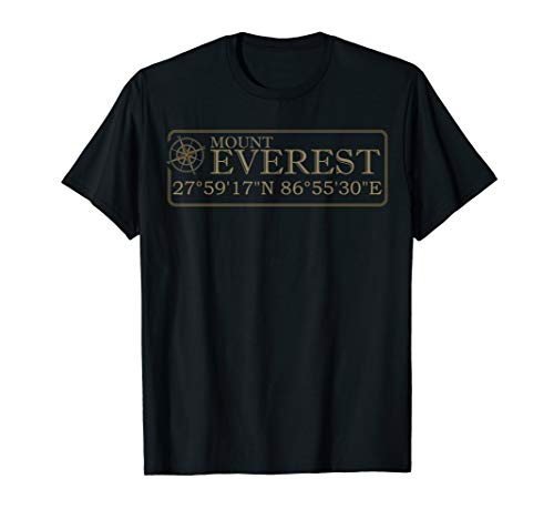 Mount Everest Gift For Men Women Mt Everest Mountaineering T-Shirt