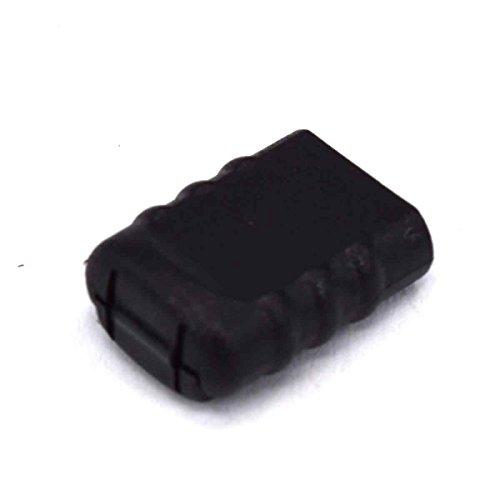 10pcs Hole 5mm*3mm Cord Ends Zipper Pull Cord Lock Stopper Black (Pull Stopper)