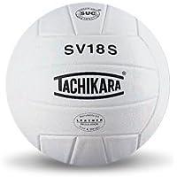 Tachikara - Balón de Voleibol (Piel sintética), Color Blanco