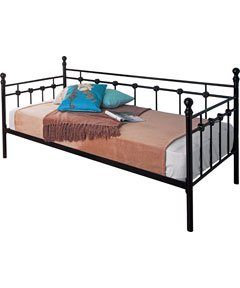 88ebd54ec8f3 Image Unavailable. Image not available for. Colour: Abigail Metal Day Bed  in Black Finish