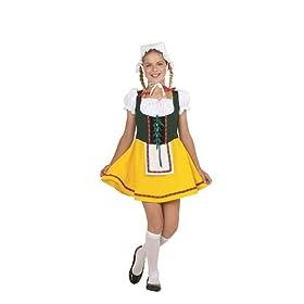 RG Costumes Bavarian Girl Costume, Green/Yellow/White, Medium