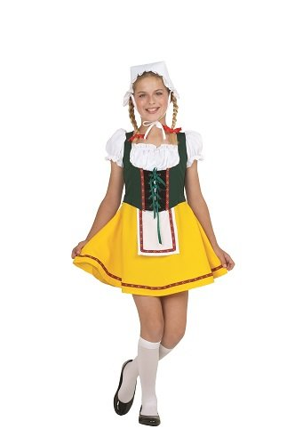 (RG Costumes Bavarian Girl Costume, Green/Yellow/White,)