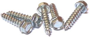 5/16'' x 3'' Type A Self-Tapping Screws/Unslotted/Hex Washer Head/Steel/Zinc/400 Pc. Carton