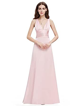 HE09008PK10, Pink, 8US, Ever Pretty Long Cheap Evening Dress For Women 09008