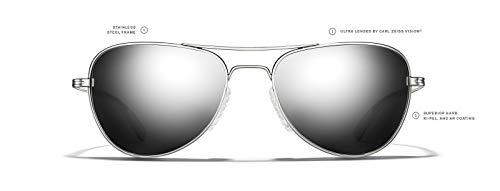 e4ac48cfd ROKA Rio Alloy Sports Performance Aviator Non-Polarized Sunglasses Men  Women - Silver Frame -